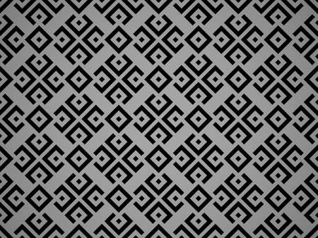 Abstract geometric pattern. A seamless vector background. Black and gray ornament. Graphic modern pattern. Simple lattice graphic design