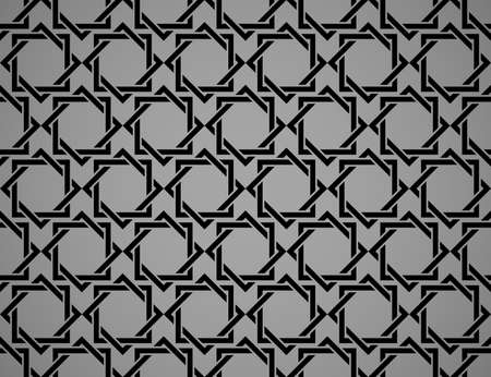 The geometric pattern with lines. Seamless vector background. Black and gray texture. Graphic modern pattern. Simple lattice graphic design Vectores
