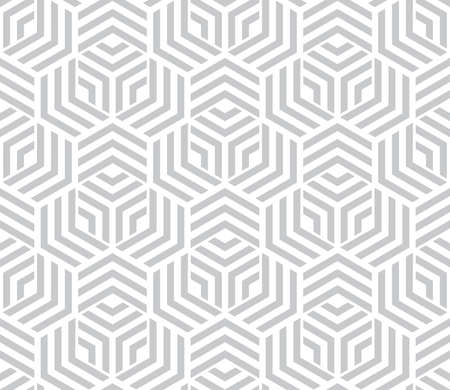 Abstract geometric pattern with stripes, lines. Seamless vector background. White and gray ornament. Simple lattice graphic design.