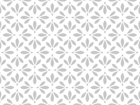 Flower geometric pattern. Seamless background. White and gray ornament. Ornament for fabric, wallpaper, packaging. Decorative print. Foto de archivo