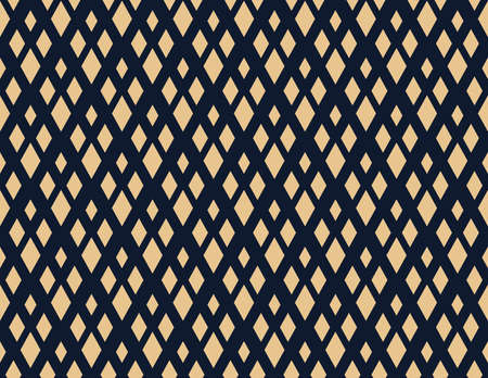 Abstract geometric pattern. A seamless background. Gold and dark blue ornament. Graphic modern pattern. Simple lattice graphic design Foto de archivo