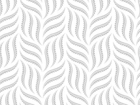 The geometric pattern with wavy lines. Seamless background. White and gray texture. Simple lattice graphic design.