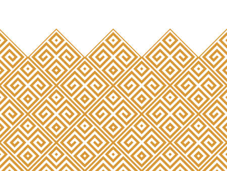 Abstract geometric pattern. Modern background. White and gold ornament. Graphic pattern. Simple lattice graphic design