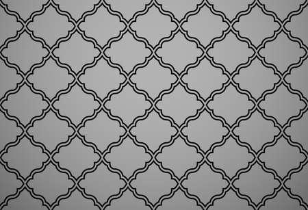 Abstract geometry pattern in Arabian style. Seamless background. Black graphic ornament. Simple lattice graphic design Foto de archivo