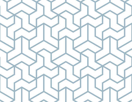 The geometric pattern with lines. Seamless background. White and blue texture. Graphic modern pattern. Simple lattice graphic design Foto de archivo
