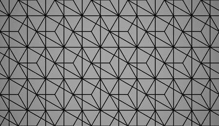 The geometric pattern with lines. Seamless background. Black texture. Graphic modern pattern. Simple lattice graphic design Foto de archivo