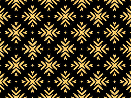 Abstract geometric pattern. A seamless background. Gold and black ornament. Graphic modern pattern. Simple lattice graphic design Foto de archivo