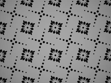 Flower geometric pattern. Seamless background. Black ornament Banque d'images