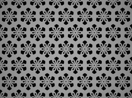 Flower geometric pattern. Seamless background. Black and gray ornament. Ornament for fabric, wallpaper, packaging. Decorative print