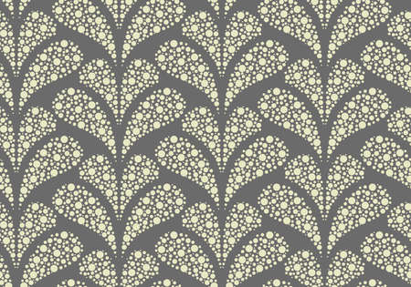 Flower geometric pattern. Seamless background. Gray ornament. Ornament for fabric, wallpaper, packaging. Decorative print Banque d'images