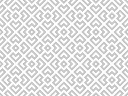 Abstract geometric pattern. A seamless background. White and gray ornament. Graphic modern pattern. Simple lattice graphic design Banque d'images