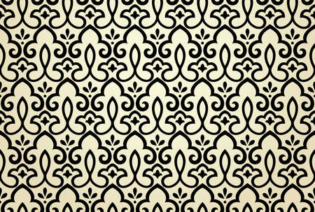 Flower geometric pattern. Seamless background. Gray ornament