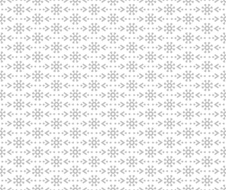Flower geometric pattern. Seamless vector background. White and gray ornament.