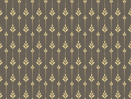 Flower geometric pattern. Seamless background. Gold and gray ornament. Ornament for fabric, wallpaper, packaging. Decorative print