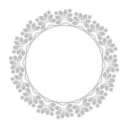 Decorative frame Elegant element for design in Eastern style, place for text. Floral gray border. Lace illustration for invitations and greeting cards Stock fotó