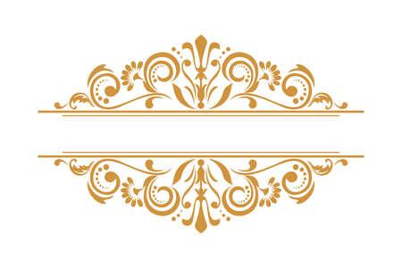 Vintage gold element. Graphic design. Damask graphic ornament.