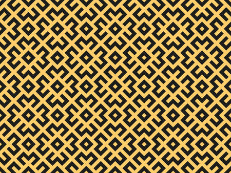 Abstract geometric pattern. A seamless background. Gold and black ornament. Graphic modern pattern. Simple lattice graphic design Stock fotó