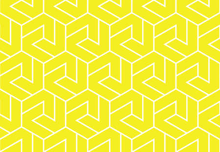 The geometric pattern with lines. Seamless background. White and yellow texture. Graphic modern pattern. Simple lattice graphic design Stock fotó