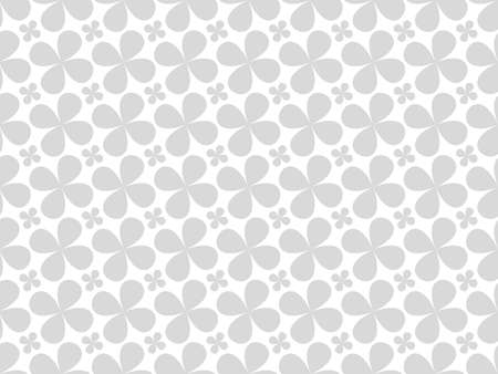Flower geometric pattern. Seamless background. White and gray ornament. Ornament for fabric, wallpaper, packaging. Decorative print. Stock fotó