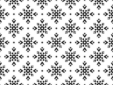 Snowflakes icon collection. Graphic modern black ornament