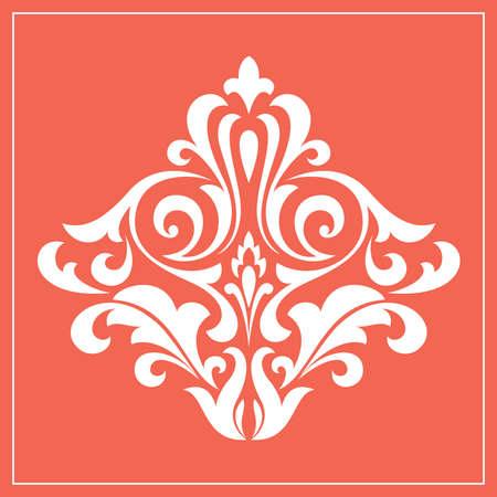 Damask graphic ornament. Floral design element. Pink pattern Stock fotó