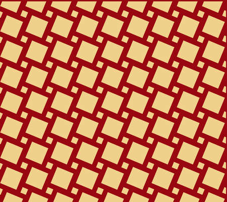 Abstract geometric pattern. A seamless background. Red and gold ornament. Graphic modern pattern. Simple lattice graphic design