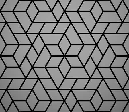 The geometric pattern with lines. Seamless background. Black texture. Graphic modern pattern. Simple lattice graphic design Stock fotó