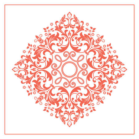 Decorative element . Floral pink and white ornament Stock fotó