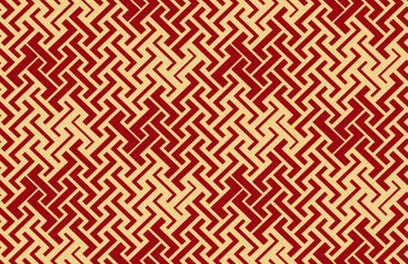 Abstract geometric pattern with stripes, lines. Seamless background. Gold and red ornament. Simple lattice graphic design Stock fotó