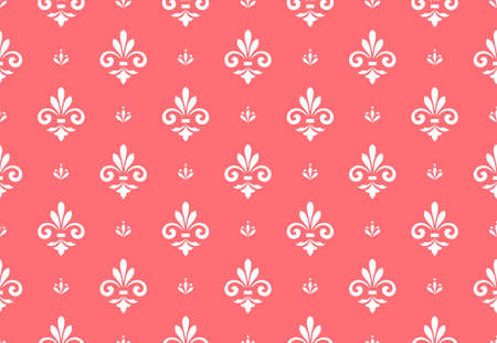 Flower geometric pattern. Seamless background. White and pink ornament Stock fotó