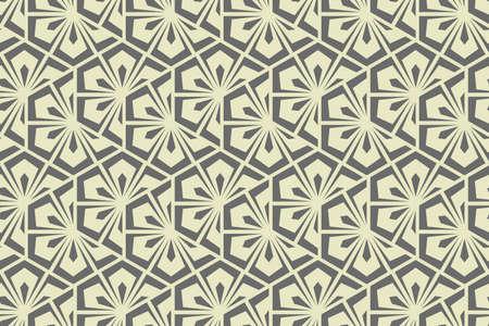 Flower geometric pattern. Seamless background. Gray ornament. Ornament for fabric, wallpaper, packaging. Decorative print Stock fotó
