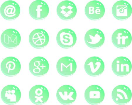 social icons vector Vektorové ilustrace