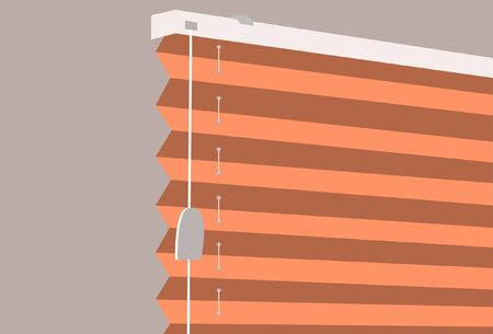 Illustration of a horizontal blinds.