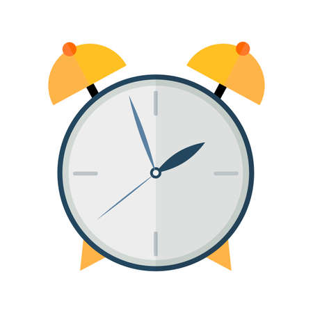 sha: Mechanical watches. Alarm clock. Illustration in style flat on a white background. Illustration