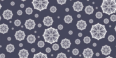 Seamless winter background with snowflakes. Snowfall.