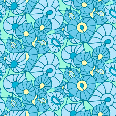 used ornament: Seamless leaves background. Abstract ornament. Pattern can be used for textile design, packaging, invitation.