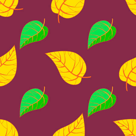 seamless autumn leaves pattern royalty free cliparts vectors and