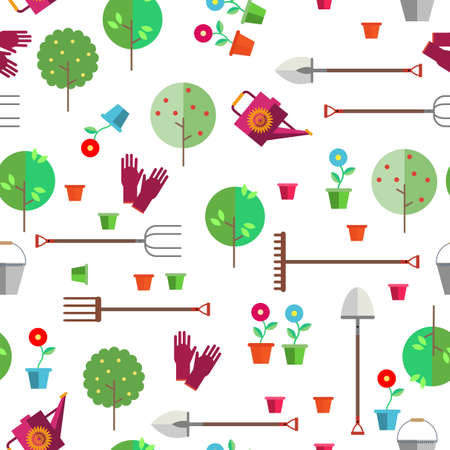 Seamless pattern on a light background. Agriculture or horticulture. Stock Vector - 79580972