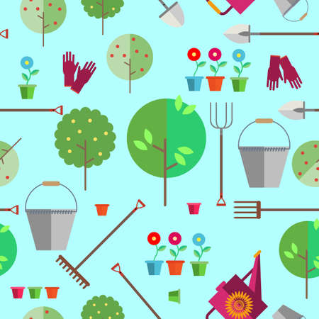 Seamless pattern on a light background. Agriculture or horticulture.