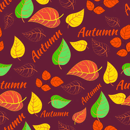 fall leaves: Autumn pattern. Seamless background