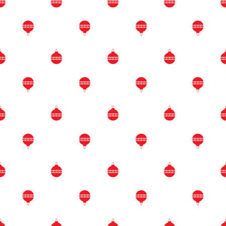 Seamless symmetric pattern of Christmas toy decorations. Background for wrapping paper. Vector.