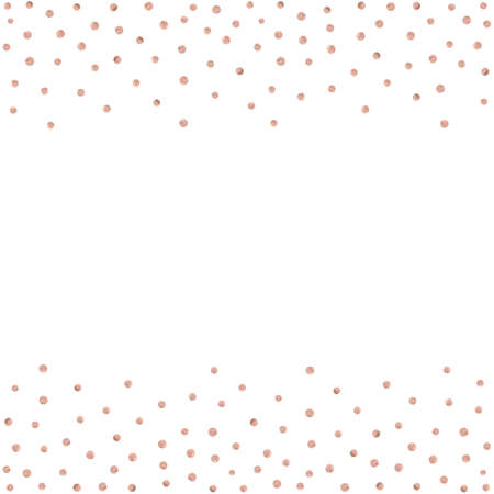 Rose gold glitter beautiful fashion background polka dot vector illustration. Pink golden dots confetti frame. 版權商用圖片 - 90882487