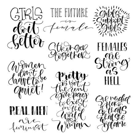Feminist Quotes Simple Feminist Quotes Set The Future Is Female Girls Support Girls