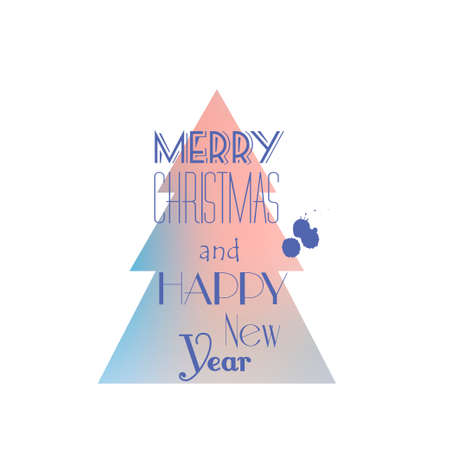 dec  25: Merry Christmas and Happy New Year card design. Perfect as invitation card or announcement, can be used for wrapping paper and other decoration Illustration
