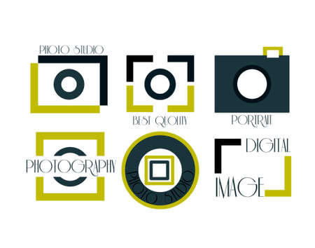 photography: Vector collection of photography logo templates. Photocam logotypes. Photography vintage badges and icons. Modern mass media icons. Photo labels.