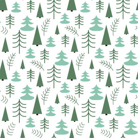 Seamless Christmas pattern with trees. Ideal for wrapping paper, invitation card or other  materials