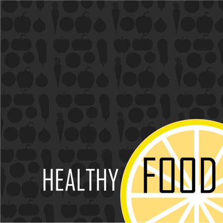 food industry: Fruits and Vegetables pattern vector illustration. Logo concept. Ideal in food markets, restaurant industry