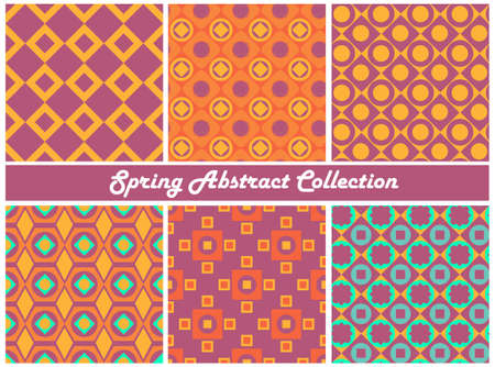 collection series: Vector collection of bright colorful abstract patterns. Spring Series