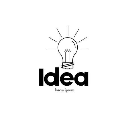 Light Bulb Icon, Lamp Shine Creative Innovation Sign, Web Development,  Advertising, Design