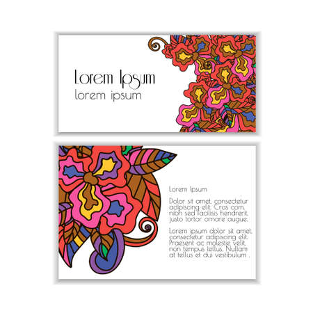 placards: Set of posters with doodle paisley for your business. Vector abstract background for invitations, business documents, cards, flyers and placards. Sale brochure.Used clipping mask for easy editing.